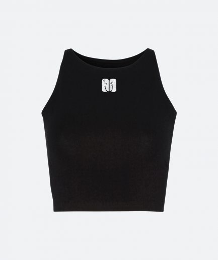 spoontech logo crop top back